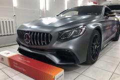 Полная бронировка автомобиля Mercedes s63 AMG Пленкой Llumar mat