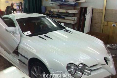 Тонировка автомобиля VIP класс Mercedes-Benz SLR