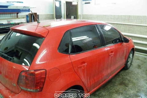 Тонировка стекол авто Volswagen Golf, после тонировки финиш